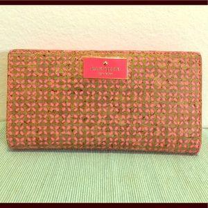 Kate Spade Floral Cork Wallet